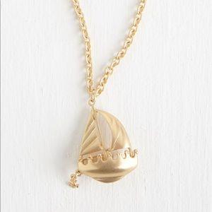 ModCloth Sailboat Pendant Necklace!